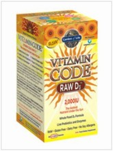 VITAMIN CODE Raw Vitamin D3  60 LCapsGarden of Life