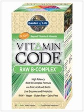 Vitamin Code - Raw B-Complex 60 Caps. - Garden of Life