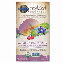 mykind Organics - Multivitamin - Women's Once Daily,  30 Vegan Tabs