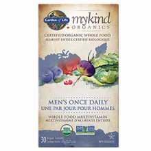 mykind Organics - Multivitamin - Men's Once Daily, 30 vegan tabs