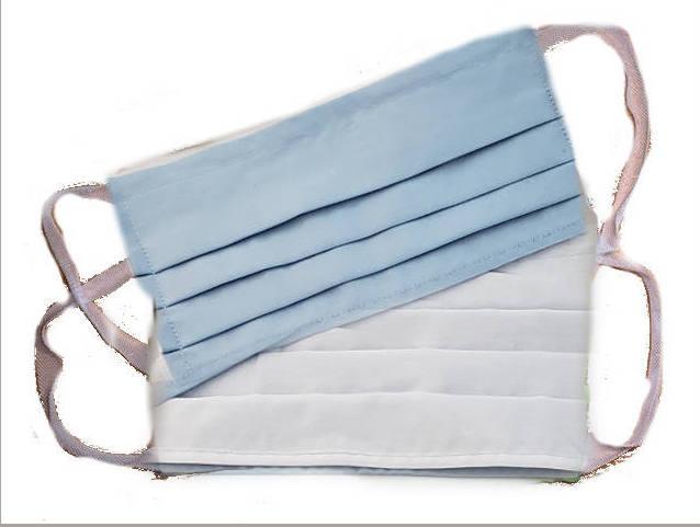 Face Mask - 594 Light Blue & White
