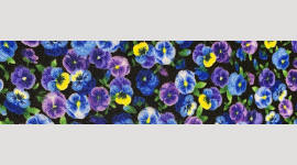 Cooling Tie - 652 Mini Pansy