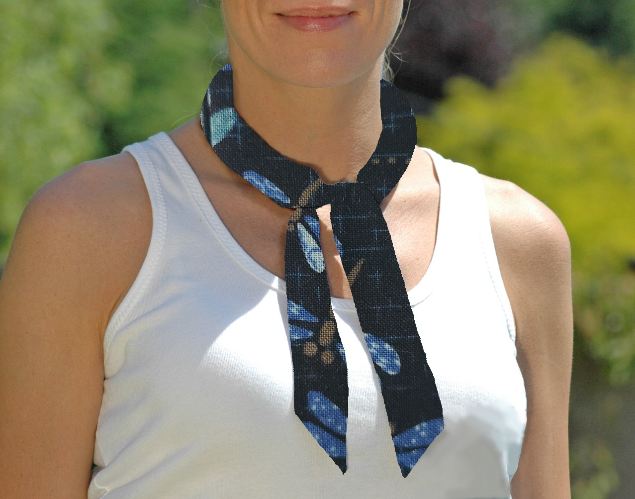 Cooling Tie - 664 Quilted Dragonfly