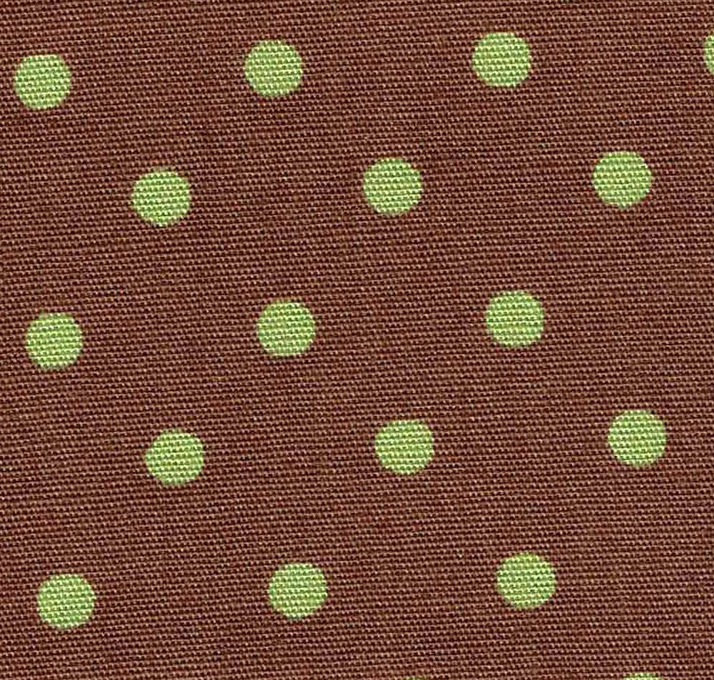 That's My Bag - L072 Green Dot on Brown